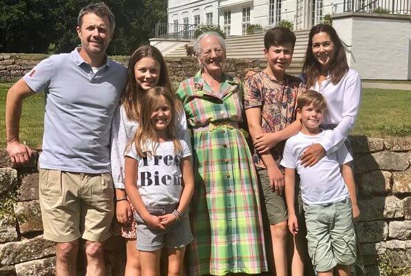 Margrethe, Frederik, Mary, Christian, Isabella, Vincent, Josephine