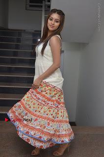 Telugu Actress Anu Emmanuel New Stills in Beautiful White Long Dress  0086.JPG
