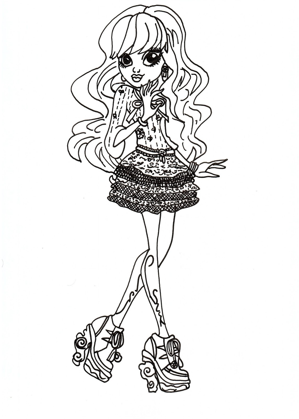 Free Printable Monster High Coloring Pages: Free Twyla