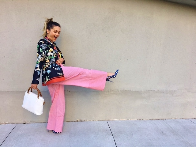 wide leg pants, zara pants, summer pants, palazzo pants, gucci blazer, gucci inspired, spring outfit, floral blazer, zara outfit, best toronto streetstyle, best canadian fashion blogger, blogger spring outfit