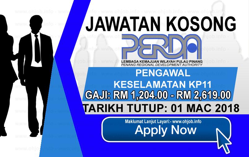 Jawatan Kerja Kosong Lembaga Kemajuan Wilayah Pulau Pinang - PERDA logo www.ohjob.info mac 2018