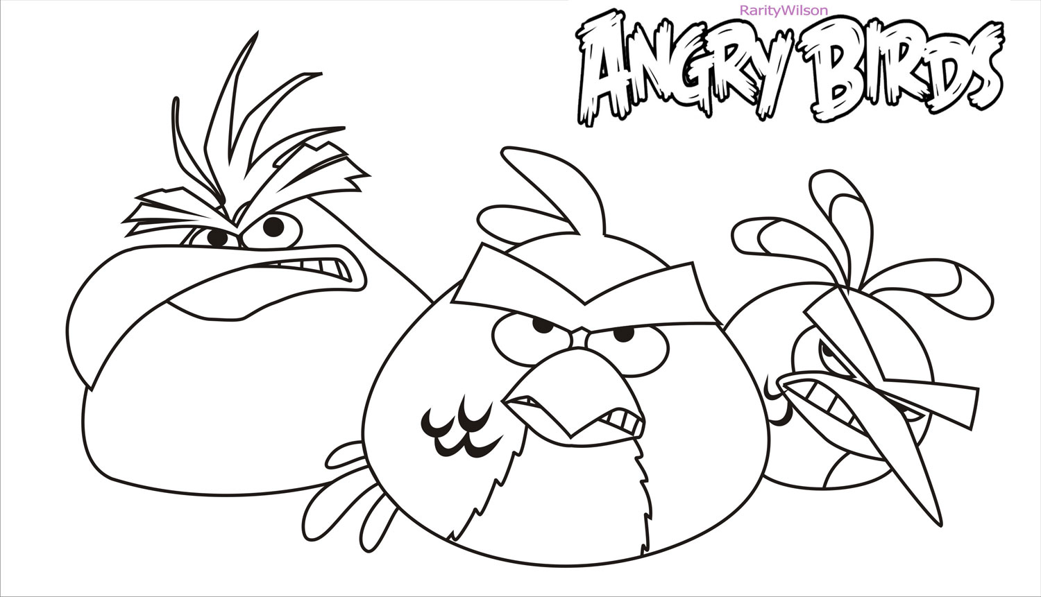 Angry birds rio coloring pages team colors for Angry bird color pages