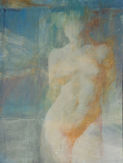 Nude III -  Painting - Rosemary Marchetta