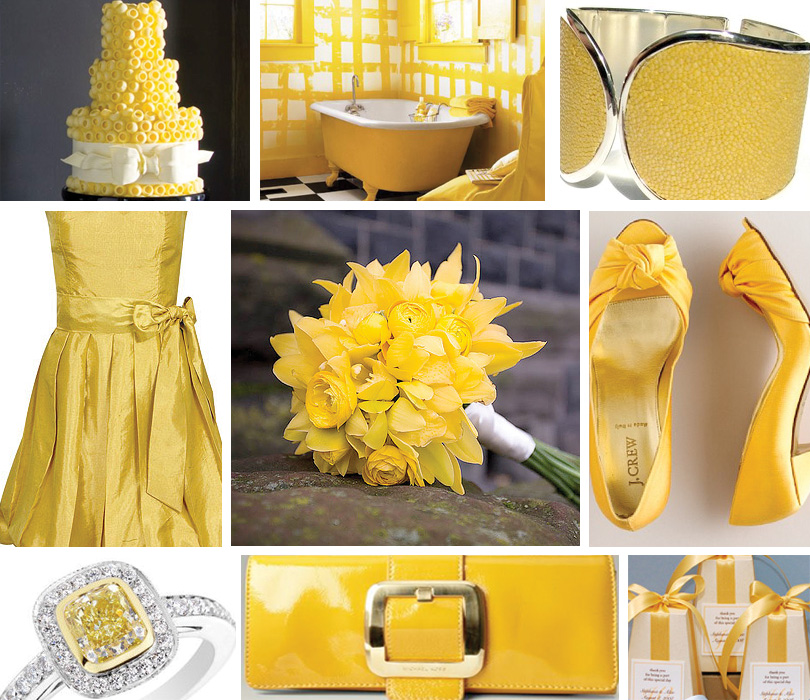 Silver Wedding Invitations: Yellow Wedding Favor Ideas