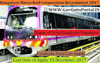 Bangalore Metro Recruitment 2017– 80 Graduate Engineer