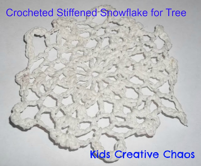 Winter Snowflake Crochet Craft for Tree Ornament.