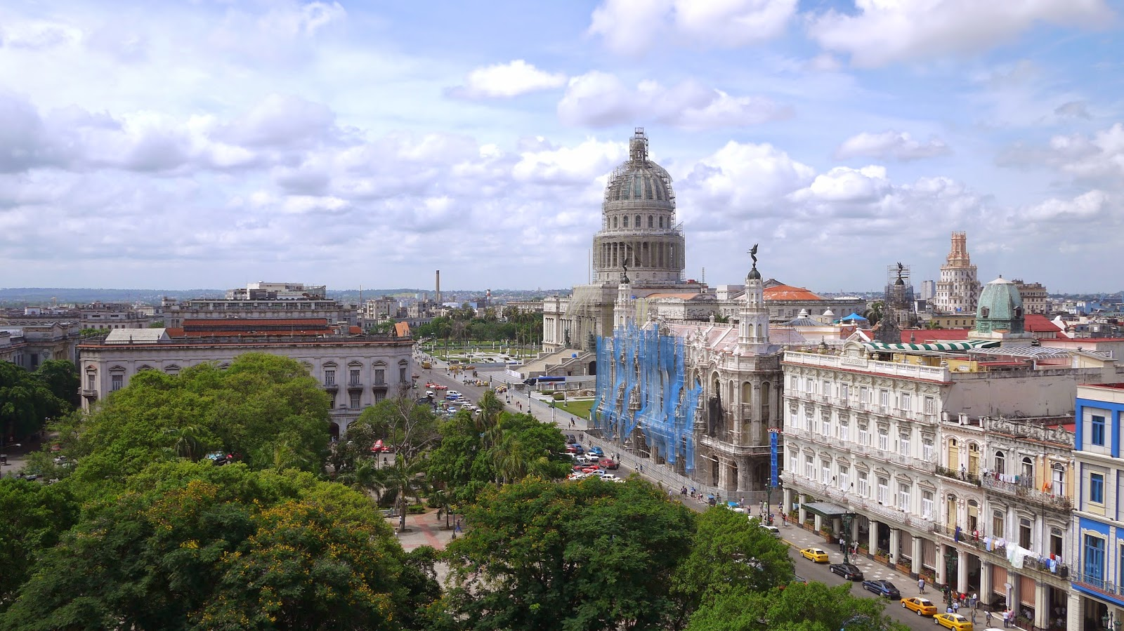View from Parque Central hotel rooftop Havana Cuba
