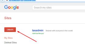 cara create site google