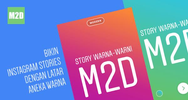 Layaknya status teks WhatsApp yang berlatar warna Cara Membuat Tulisan di Instagram Stories dengan Background Warna-warni