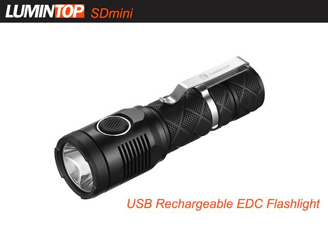 Coupon LUMINTOP SDmini 920Lm CREE XPL HI Compact LED Flashlight