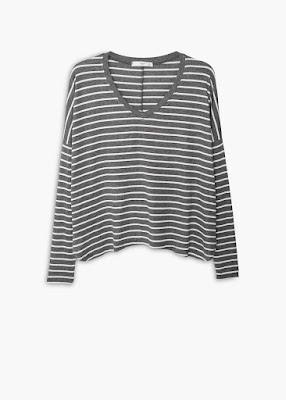 Mango Stripe Patterned T Shirt