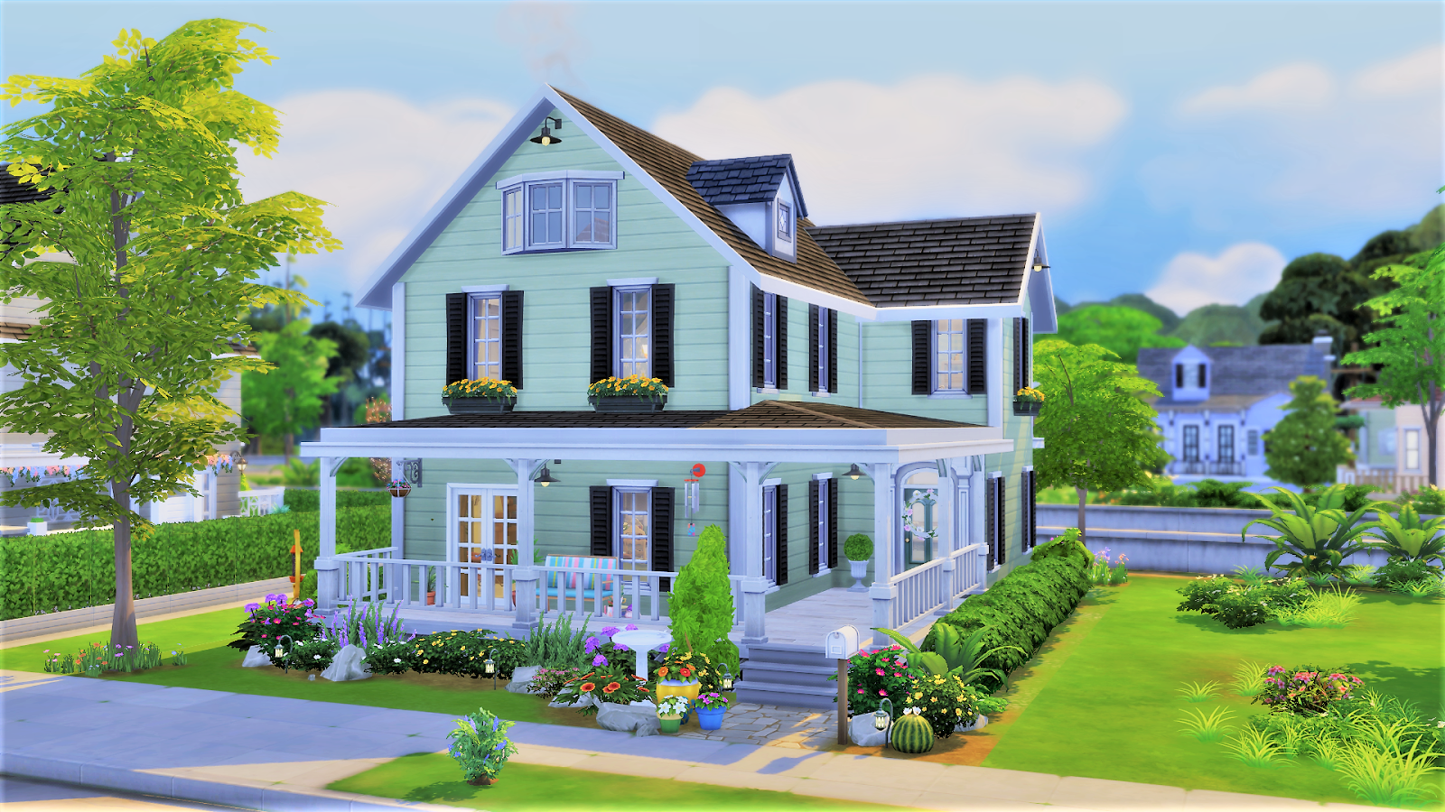 Sim House Design Workshop Sims 4 Maple House 恬静乡村生活