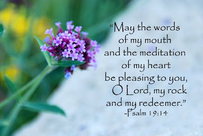 psalm 19:14 may the words of my mouth and the meditation of my heart be pleasing
