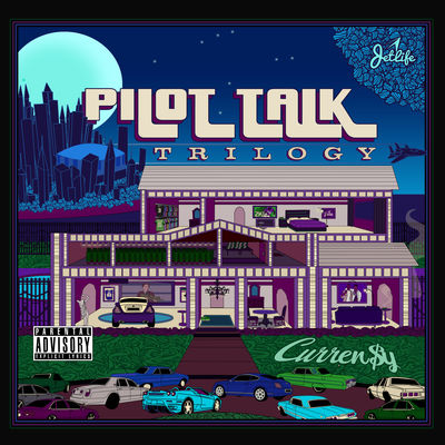 Currensy - Pilot Talk Trilogy - Album Download, Itunes Cover, Official Cover, Album CD Cover Art, Tracklist
