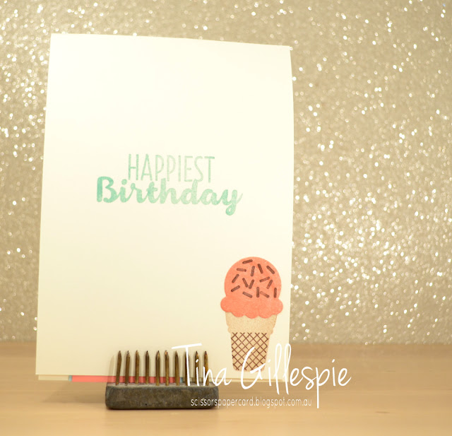 scissorspapercard, Stampin' Up!, Number Of Years, Cool Treats, Frozen Treats, Cupcake Cutouts