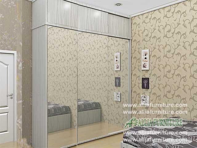 lemari minimalis unit 3 pintu sliding kz