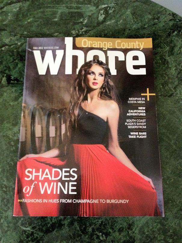 Poorly designed magazine cover