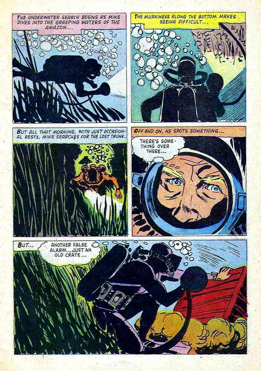 Sea Hunt / Four Color Comics #1041 dell comic book page art by Alex Toth