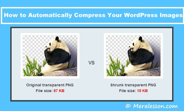 compress images with tinypng plugin for WordPress