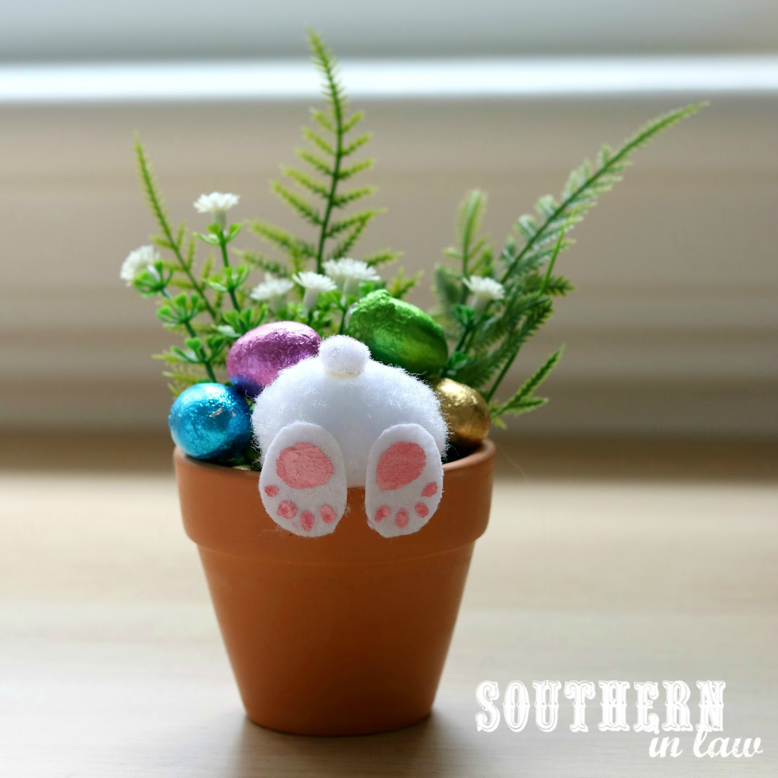 Home Craft Ideas Easter Bunny Flower Pot Craft Flower Pot