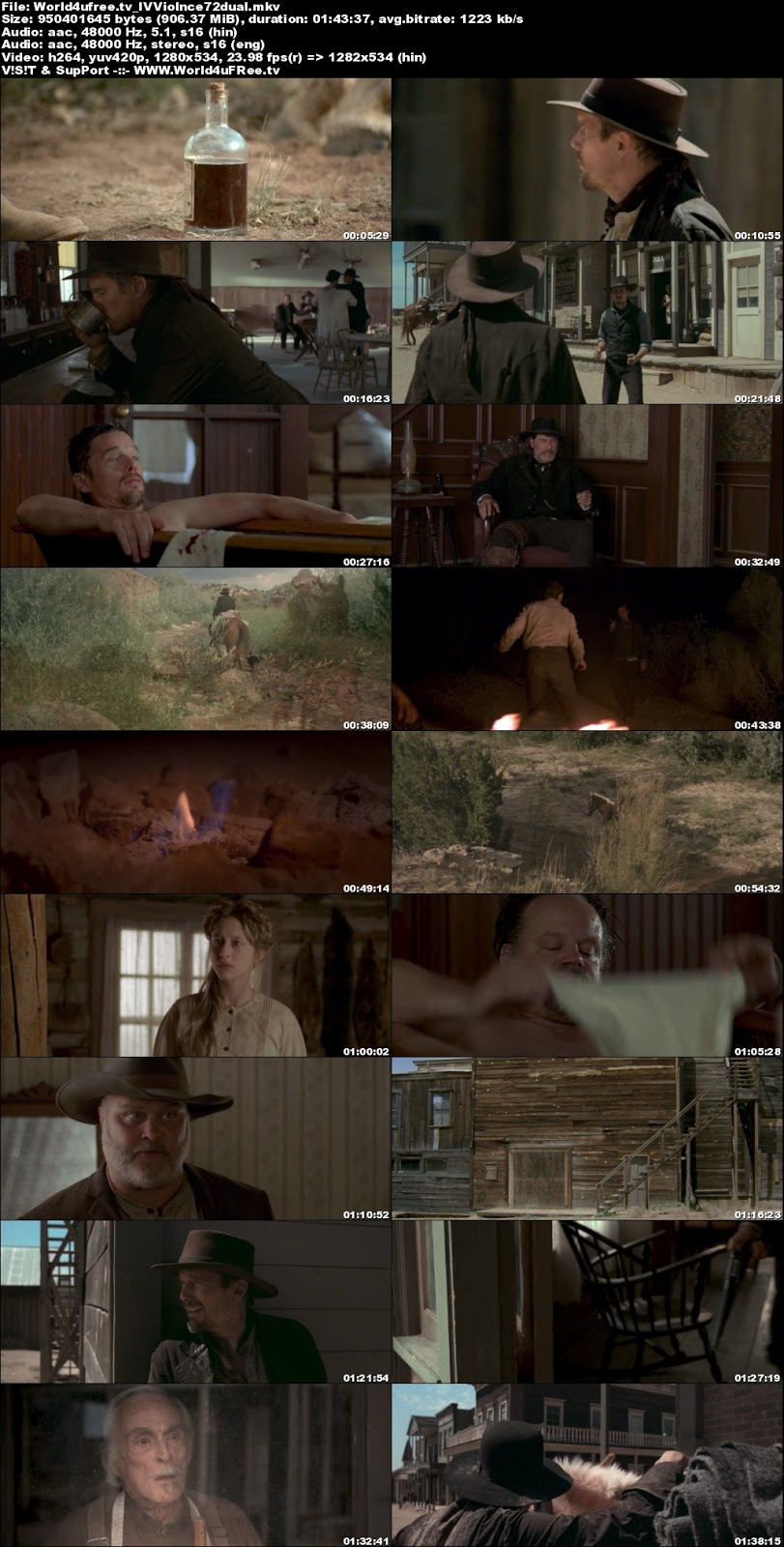 In a Valley of Violence 2016 Dual Audio 720p BRRip 900Mb x264