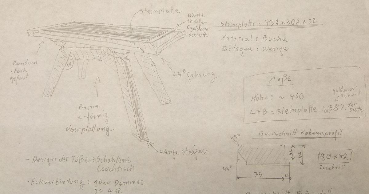 Michas Holzblog: Projektvorstellung: Beistelltisch mit Steinplatte ...