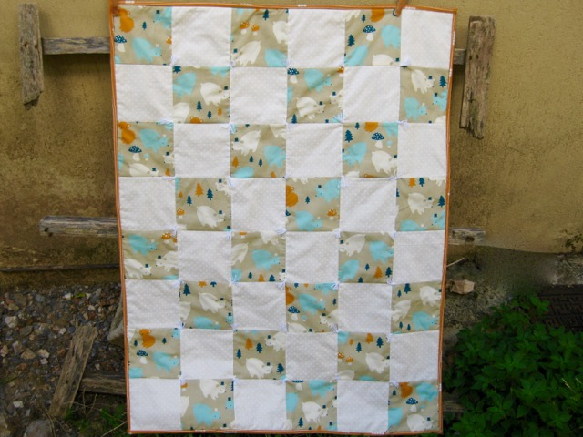 One Patch Baby Quilt Tutorial
