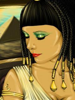 Mujer egipcia maquillada.