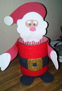 dulcero Papá Noel con latas de conservas