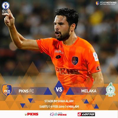 Live Streaming PKNS FC vs Melaka United Liga Super 9.2.2019