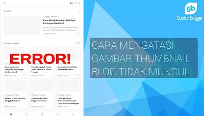 cara memperbaiki gambar postingan diblog tidak muncul
