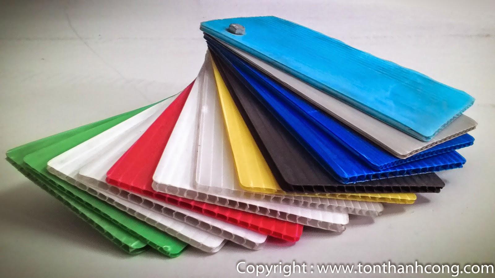 Tấm Xốp Foam PP Rỗng Ruột với nhiều màu