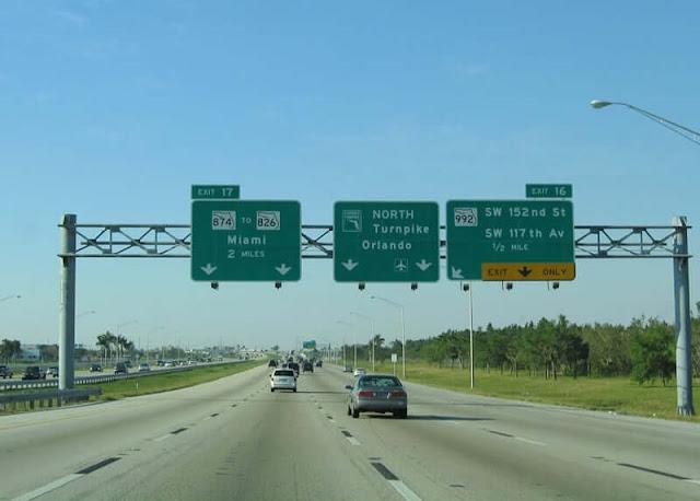 Trajeto entre Miami e Orlando