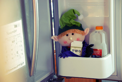 elf on the shelf advent bible study fridge