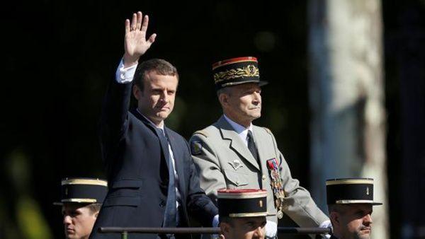 Dimite jefe de Estado mayor francés tras conflicto con Macron