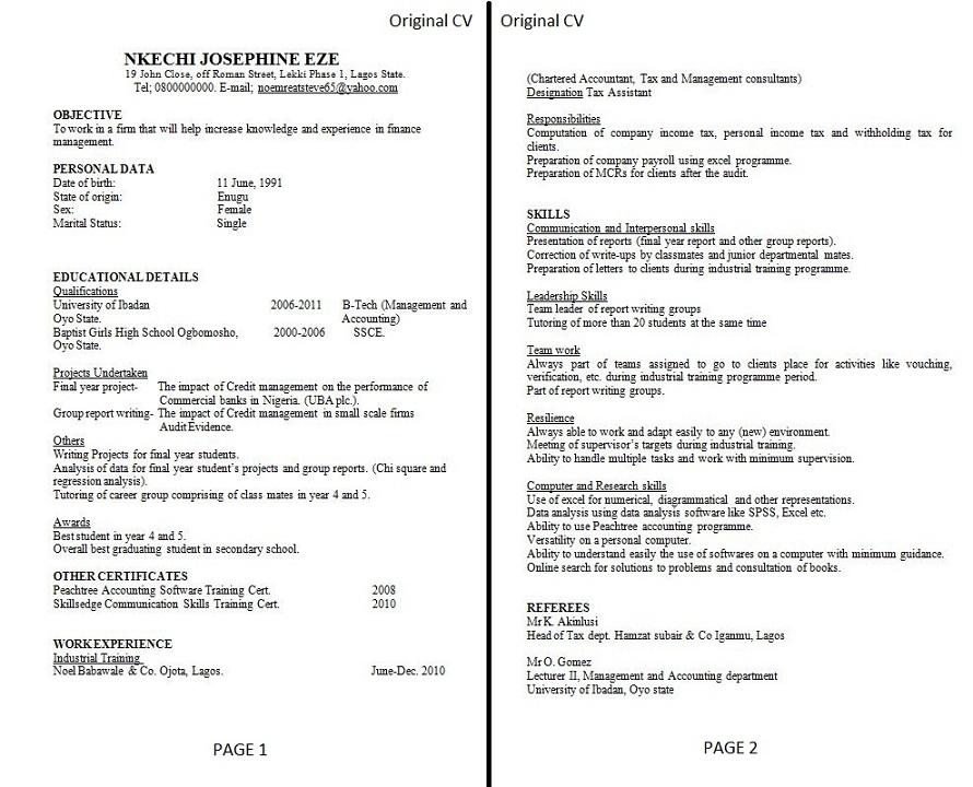 easy way to make a resume resume sample