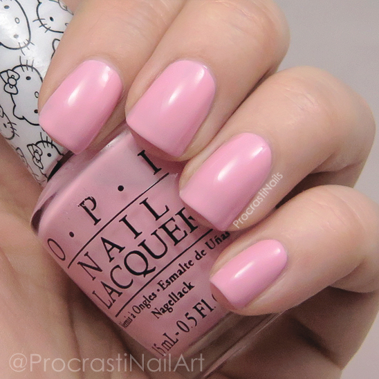 Swatch of OPI Small + Cute = Heart