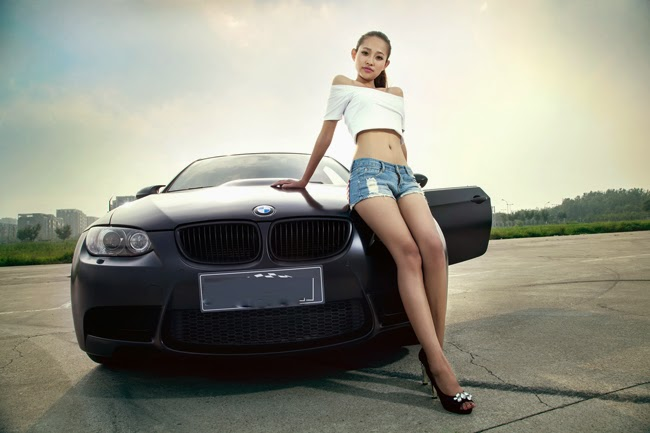 BMW M3 and Girl