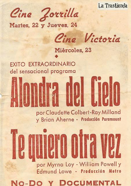 Programa de Cine - Te Quiero Otra Vez - William Powell - Myrna Loy