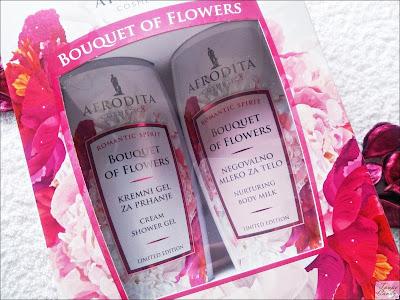 afrodita set, afrodita gel za tusiranje, afrodita mleko za telo, afrodita bouquet of flowers