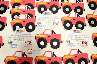 monster_truck_invitations, handmade invitations, monster truck