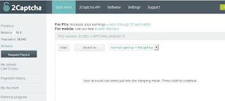 Tampilan utama situs 2captcha