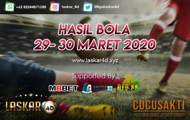 HASIL BOLA JITU TANGGAL 29 – 30 MARET 2020