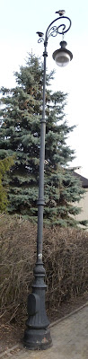 street lamp commonly called pastoral because of resemblance to bishop's staff
