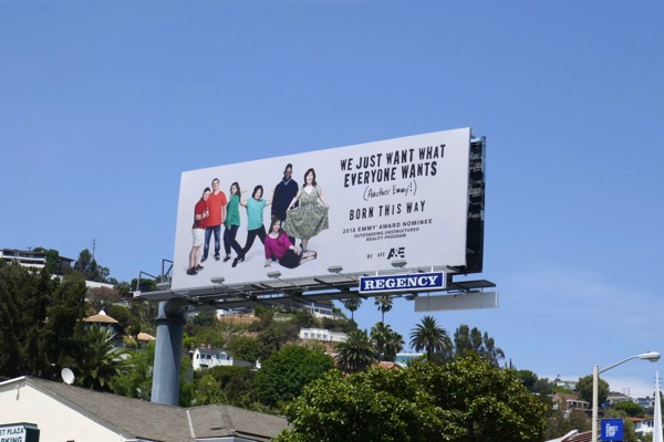 Born This Way season 3 Emmy nominee billboard