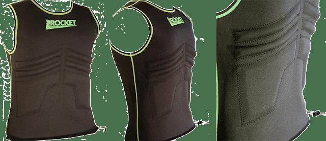 Rib Rocket Long Sleeve Lycra//Neoprene Tropic White//Gray Vest