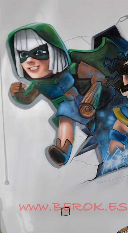 graffiti clash royale bandida