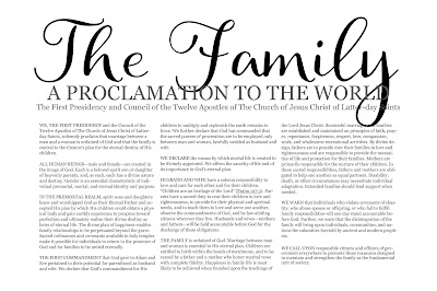 graphic regarding Family Proclamation Printable known as Match Working day Strategies: The Spouse and children Proclamation