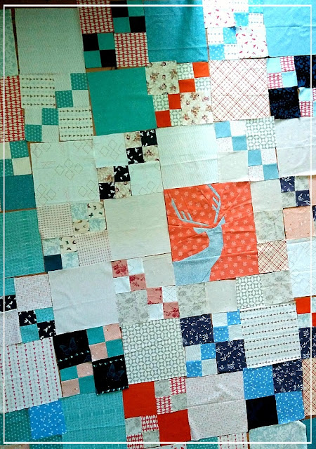 Not so spring deer, Foundation Paper Piecing, FPP, Puppilalla, Penny Patch Quilt,modern quilting