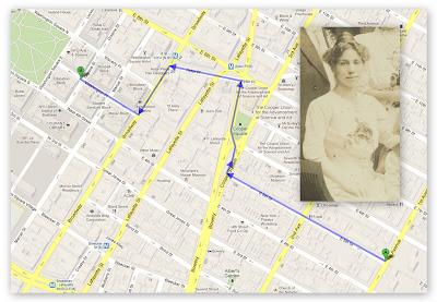 100 Years in America Triangle Shirtwaist Fire Map